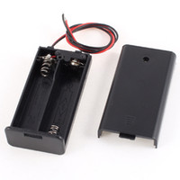 Wholesale Battery Holder Case Off - 2 x AA 3V Batteries Battery Holder Case Box Slot Wired ON OFF Switch w Cover
