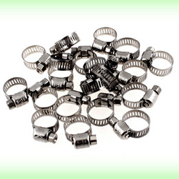 Wholesale Wholesale Stainless Steel Hose Clamps - Adjustable 9mm-16mm Stainless Steel Worm Gear Hose Clamps 20 Pieces
