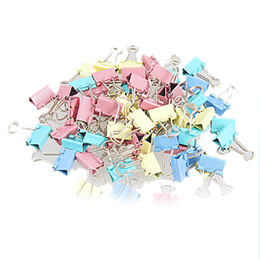 Wholesale Paper Filing Clips - 60 Pcs Metal Assorted Color File Paper Binder Clips