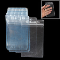 Wholesale Wholesale Plastic Name Tags - 50 Pcs Clear Plastic Vertical Name Tag Badge ID Card Holders