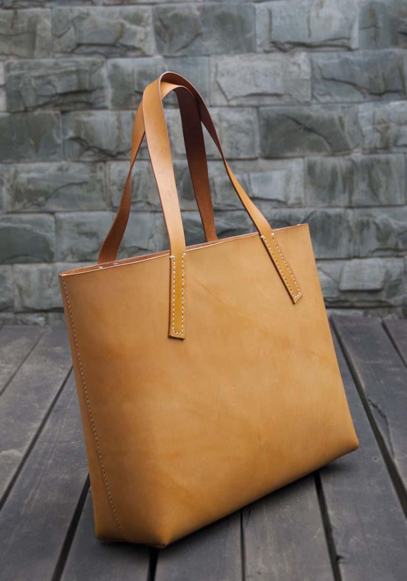 Women Handbag Handmade Vegetable Tanned Genuine Leather Tote Huge ...