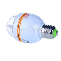 Wholesale uk bulbs online - Full Color W E27 RGB LED Crystal Small Stage Light AC110V V Voice activated Rotating DJ party stage Light Bulb Lamp