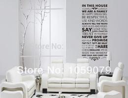 $enCountryForm.capitalKeyWord Canada - 2015,Christmas gift NEW House Rule Family Happy Maxim Wall Sticker Sitting Living Bed Room Decoration 8084g