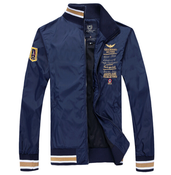 Toptan-2015 yepyeni moda Bir ceket erkekler rahat ceket ceket Rüzgarlık Işlemeli bombacı ceket
