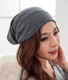cool winter beanies for men NZ - Wholesale-Fashion Casual Design Plain Women Hip Hop Ring Warm Beanie Hat Cool Snap Backs 4 Colours Neck Scarf Double Use for Girls Winter