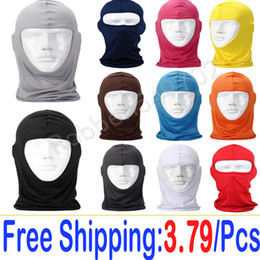 Wholesale Pink Balaclavas - Wholesale-Free Shipping 12Color Cycling Neck Outdoor Balaclava Full Face Mask Motorcycle Tactical Protection Navy Seals Sport Windproof UV