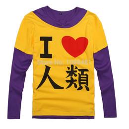 Argentina Al por mayor-No hay juego no hay vida Sora Shiro camiseta cosplay disfraces camiseta Disboard Humans I love human Suministro