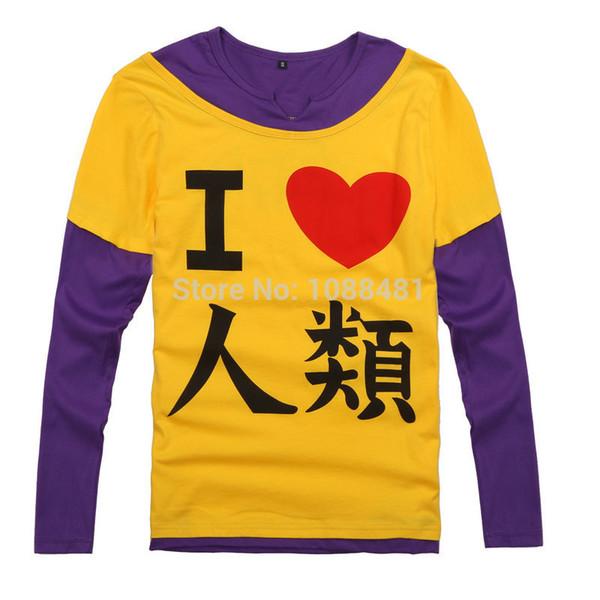 top popular Wholesale-No game no life Sora Shiro T-shirt cosplay costumes T-shirt Disboard Humans I love humans 2020