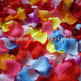 flores para decorações do casamento Desconto Atacado-38 cores 5000 pçs / lote barato decorações de casamento de seda artificial pétalas de rosa para o casamento ou evento festa flores