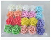 Wholesale Wholesale Floral Foam Balls - Wholesale-7cm artificial floral eva foam roses heads,diy craft bride hand bouquet,kissing ball,decoration for wedding car,arch YS0088