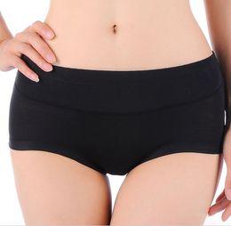 Wholesale Seamless Knickers - Wholesale-Women Low Waist Bamboo Fiber Spandex Seamless Underwear Panties Briefs Lingerie Underpants Knickers Plus SIze L XL XXL XXXL