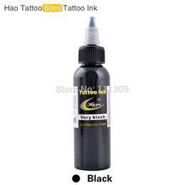Wholesale Black Ink For Tattoos - Black ink New High Quality HAO Tattoo Ink Pigment 60ML 2OZ for Permanent Body Makeup Tattoo Ink