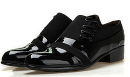 Wholesale Men Italian Patent Shoe - Wholesale-2015Business Leather Shoes Italian Style Mens Pointed Toe Dress Shoes Black Patent Leather Shoes Men