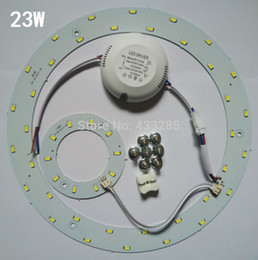 Wholesale t5 5w - 5W 12W 15W 18W 23W LED Ring PANEL Circle Light AC85-265V SMD 5730 LED Round Ceiling board the circular lamp board