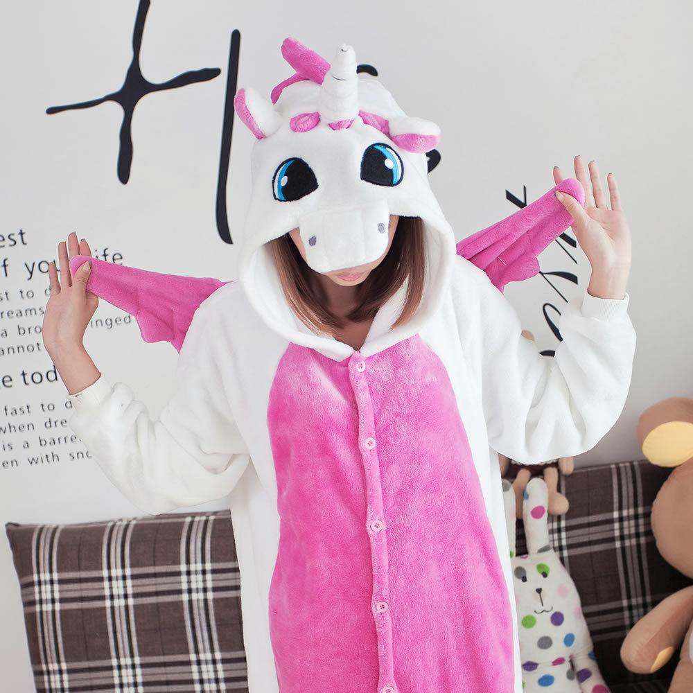 Wholesale-Animals Flannel Pink Unicorn Onesie Cosplay Pajamas Women ... 0c4342b90