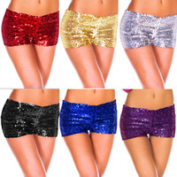 Wholesale Shiny Short Club - Wholesale-Hot New 2015 Women Shorts Sequins Shiny Shorts Sexy Women Panties Club Shorts Free Shipping 6 Colors