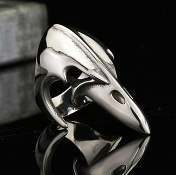 316l Steel Bird Mouth Women Girl Anti Lady Killer Ring Men