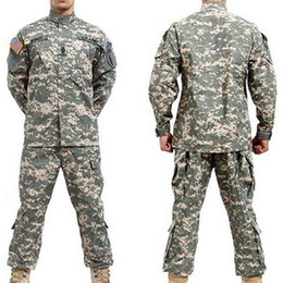 Wholesale Acu S - Wholesale-BDU ACU Camouflage suit sets Army uniform combat Airsoft uniform -Only jacket & pants