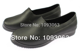 Wholesale wholesale work shoes - Wholesale-Waterproof Chef Shoes Women Lady Safety Protective Work Shoes EVA Stretchy Comfort