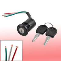 Wholesale Electric Bicycle Set - Electric Bike Bicycle Ignition Switch Black Plastic Lock Keys Set 3 in 1
