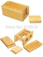 cajas mágicas de madera al por mayor-Envío gratis Magic Wooden Puzzle Box (cajón secreto) - Close Up Magic / Magic Trick