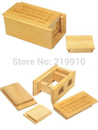 Wholesale Puzzles Tricks - Free shipping Magic Wooden Puzzle Box (Secret Drawer) - Close Up Magic Magic Trick