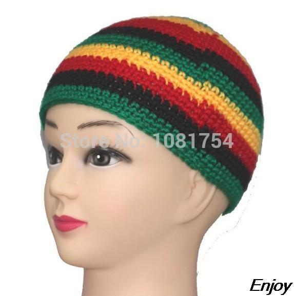 Kadınlar ve erkekler Jamaican Fancy Dress Costume Halloween Toptan-yeni kış şapkalar el yapımı örme yün kap rasta şapka beanie skullies