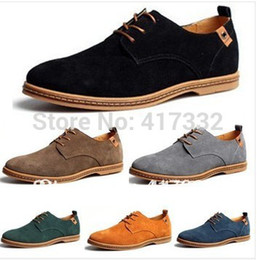 $enCountryForm.capitalKeyWord Canada - Wholesale-New Mens Dress Casual Flats Shoes Oxfords Wing Tips Suede Leather Lined Lace Up US Size 7.5-12 Wholesale+Free Shipping