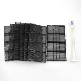 Wholesale Aquarium Air Filters - 28 Pcs Black Plastic Aquarium Undergravel Filter + Air Line Hose w Tube