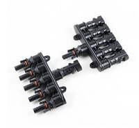 Wholesale Home Plug Connector - MC4 supporting solar, Six-way plug,MC4 parallel splitter connector,MC4 connector, solar panel connector,waterproof