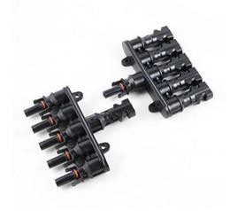 Wholesale mc4 solar - MC4 supporting solar, Six-way plug,MC4 parallel splitter connector,MC4 connector, solar panel connector,waterproof
