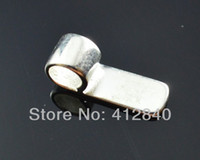 Wholesale Wholesale Necklace Bails - 2015 Colares Gemstone Jewelry Pendant Ruby Jewelry free Shipping,the Aperture:6*18mm Silver Plated Brass Pendant Glue On Bails, Bail for