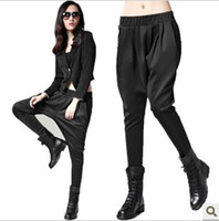 Wholesale Pants Baggies - Wholesale-loose personalized baggies harem pants casual female trousers for women Lady female two colors