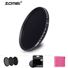 Wholesale Nd2 Nd4 Nd Filter - Free Shipping New Zomei 58mm ND ND2 ND4 ND8 Filter Germany Schott Neutral Density Lens Protector for Canon Nikon Sony Camera