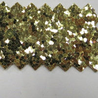 leder stoff hof großhandel-30 Yard Zhejiang Yiwu Mode Tapete Stil PU Gold Glitter Leder Stoff Für Glitte Tapete S3002 Shiny Chunky wandverkleidung