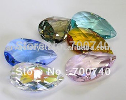 Wholesale Wholesale Chandelier Prisms - Free FEDEX DHL UPS Fast Delivery ---AAA Top Quality 38mm MC Chandelier Crystal Almond Prisms Xmas ornaments garland strands