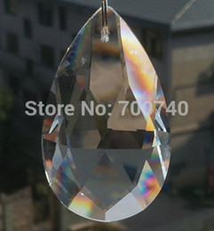 Wholesale Prism Crystal Suncatcher - FREE FEDEX DHL UPS FAST DELIVERY---AAA Top Quality 28x17mm Crystal teardrop Chandelier Prisms suncatcher