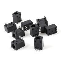Wholesale Pcb Power Jack - 10 Pcs Black 3 Pin 3.5mm x 1.3mm DC Power Jack Socket PCB Mounted Connector