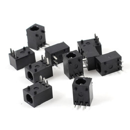 Wholesale Pcb Power Jack - 10 Pcs Black 3 Pin 3.5mm x 1.3mm DC Power Jack Socket PCB Mounted Connector