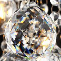 bolas de cristales de feng shui al por mayor-1 pcs 50mm claro Chandelier Crystal Faceted Ball Prism Suncatcher Feng Shui bola de cristal colgantes de cristal
