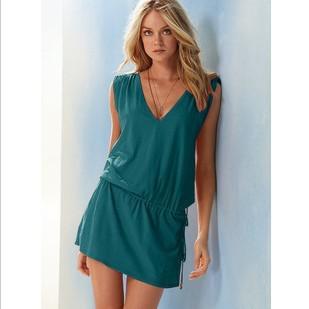 Atacado-produtos baratos Sólidos Bikini Vestido Holiday Beach Dress Vestido Casual Swimwear