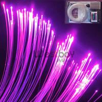 Wholesale Pool Lights Fiber Optic - Wholesale-LED fiber optic twinkle star for swiming pool includes150pcs 0.75mm 2m long fiber+5W light engine+ remote contoller+16 color