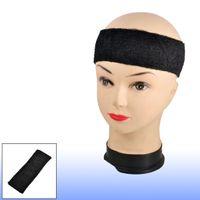 Wholesale Black Head Sweatband - Adult Terrycloth Elastic Tennis Runner Head Band Sweatband Headband Black