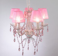Wholesale-MINI chandelier PINK girls loving lamp NS-120158P+shade from  dropshipping suppliers