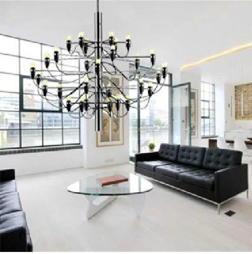Wholesale gino sarfatti designed 2097 chandelier 30 bulbs for Gino sarfatti flos