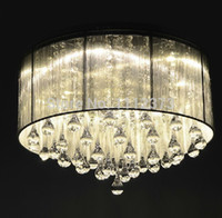 Wholesale Shaded Crystal Chandeliers - Wholesale-Cheap sell New Shade Crystal Chandelier Fixture Lighting Lamp led bulbs
