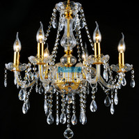 Wholesale-2015 D570mm H650mm 6 Arms Cheap Modern Free Shipping Chandelier  Lustre with K9 Crystal and 3 Year Warranty (A