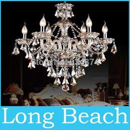 handgefertigte holzlampen Rabatt Großhandels-Kronleuchter Licht Moderne Kristall Kronleuchter Licht Kronleuchter Kristall Licht Beleuchtung Wohnzimmer Schlafzimmer Lampe