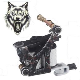 Máquina de tatuaje profesional al por mayor-Pistola Shader Liner, fundición de hierro superior, 10 bobinas de envoltura, herramientas de estilo de primavera gratis, kit de maquillaje desde fabricantes