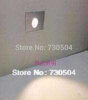ingrosso luci di zoccoli-All'ingrosso-Freeshipping 1W LED incasso Kit luce piede quadrato montato in scala ad angolo Passo parete Inground Plinth lampada AC85-260V